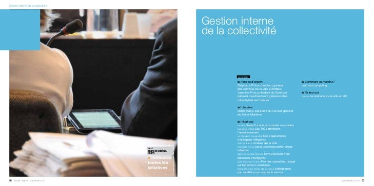 Gestion interne de la collectivité                                                     Gestion interne                    ...