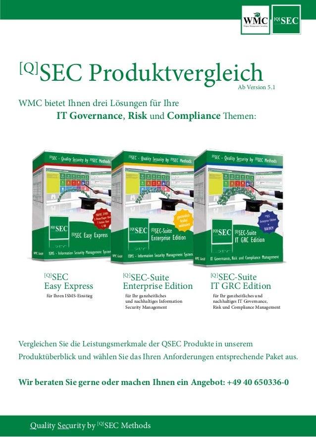 Quality Security by [Q] SEC Methods [Q] SEC Easy Express [Q] SEC-Suite Enterprise Edition [Q] SEC-Suite IT GRC Edition [Q]...