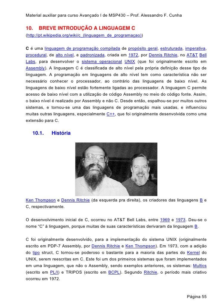 055 A 094   Material Auxiliar Para Curso AvançAdo I Msp430