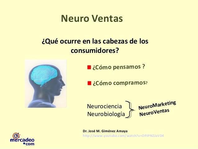 ¿Cómo pensamos ? ¿Cómo compramos? Neuro Ventas NeuroMarketing NeuroVentas Neurociencia Neurobiología Dr. José M. Giménez A...