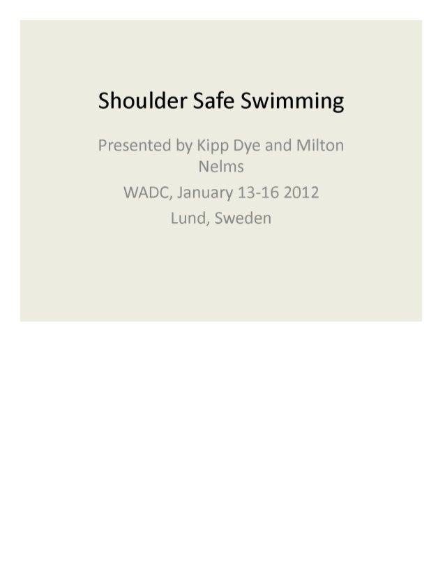 wadc shoulder safe swimming pptx download