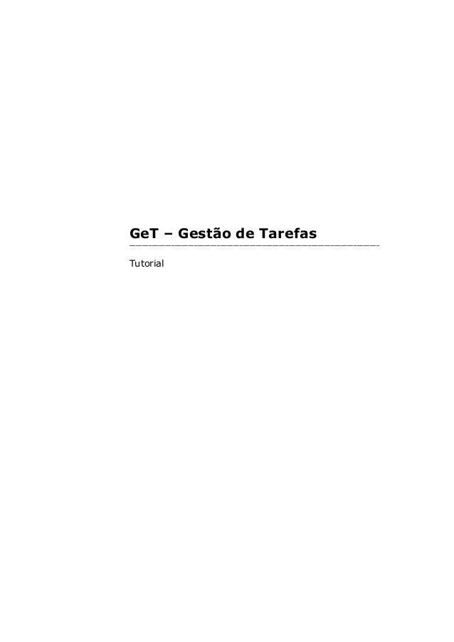 GeT – Gestão de Tarefas _____________________________________________________________________________ Tutorial