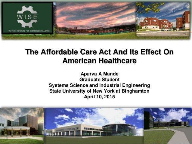 "affordable care essay This essay thinks about aca, i'll be back on dodd-frank  most of the current  policy debate, and the optimistically-named ""affordable care act."
