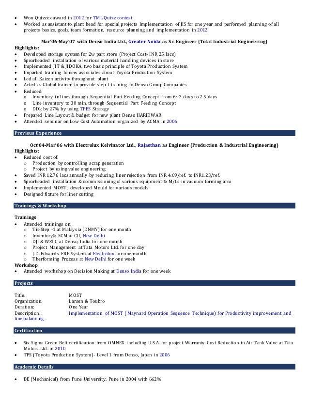 Resume - Sumit Jindal Slide 2