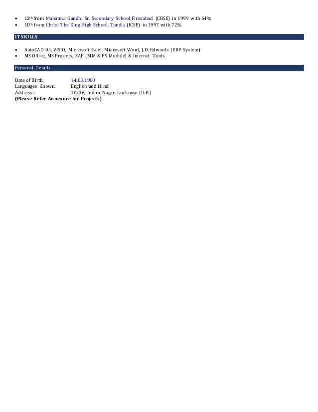 Resume - Sumit Jindal Slide 3