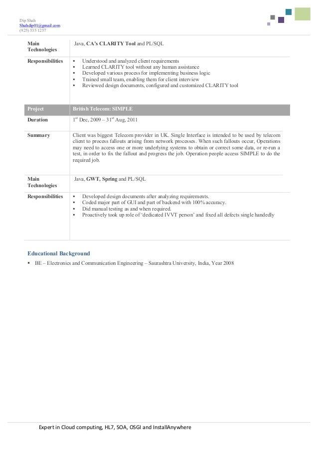 resume dip shah