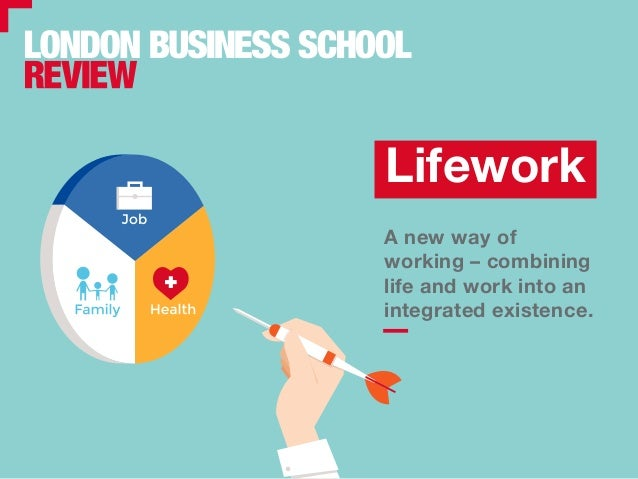 A new way of working – combining life and work into an integrated existence. Lifework