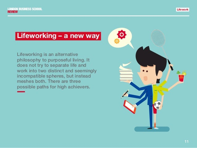 11 Lifework Lifeworking – a new way Lifeworking is an alternative philosophy to purposeful living. It does not try to sepa...