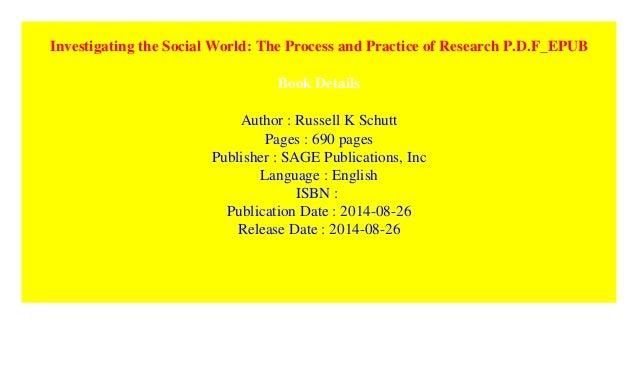 Investigating The Social World Pdf