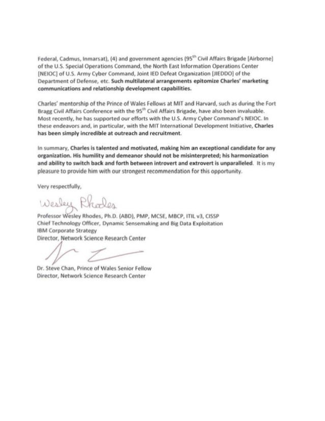 Charles Atencio Recommendation Letter Ibm Nsrc Wesley Rhodes And Stev