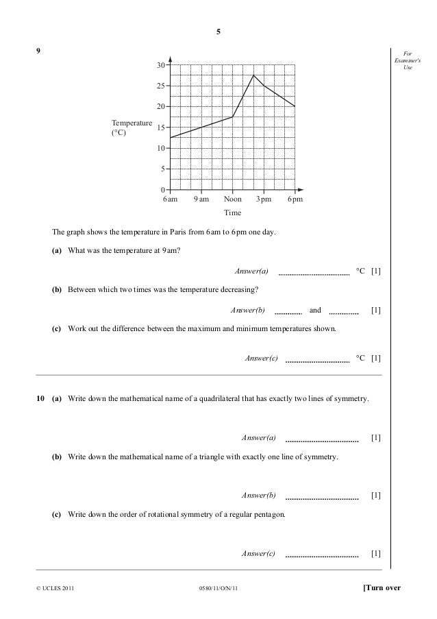 0580 w14 qp 11 Download updated cambridge igcse mathematics 0580 past papers, examiner report and mark scheme 2014 more.