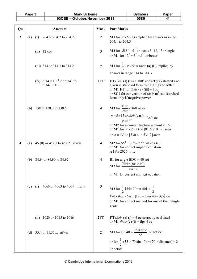 math igcse paper 21 november 2013 0580