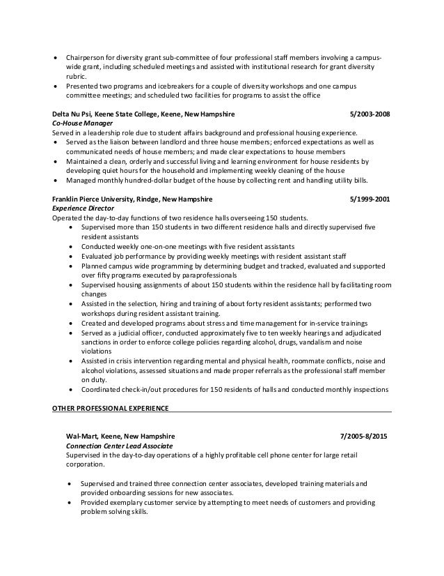 SlideShare  Student Affairs Resume
