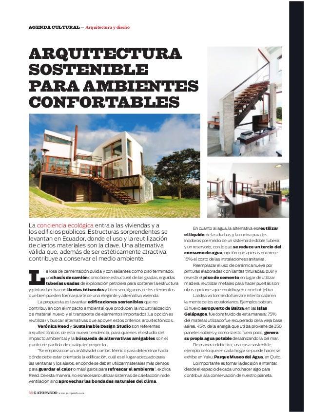 58 GATOPARDO www.gatopardo.comAGENDA CULTURAL — Arquitectura y diseñoLa losa de cementación pulida y con sellantes como pi...