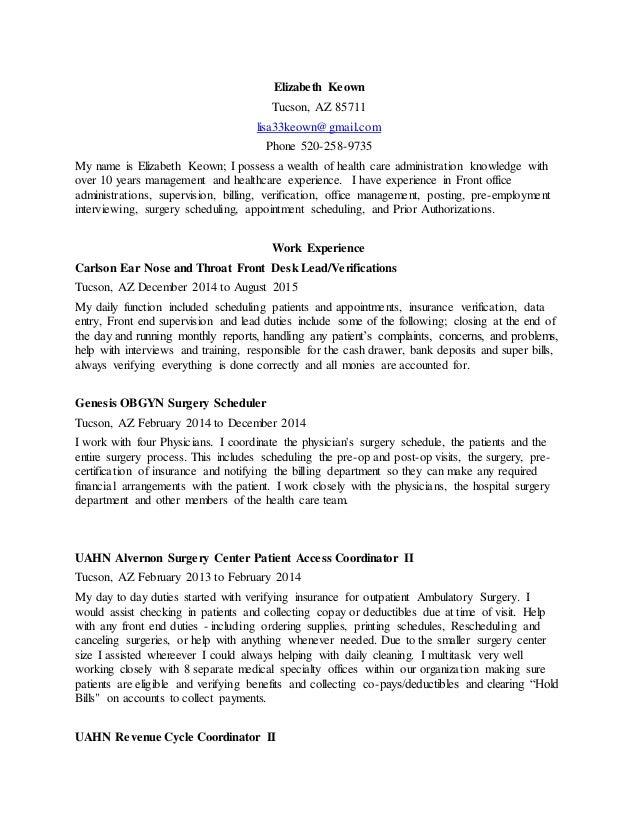 elizabethkeown resume