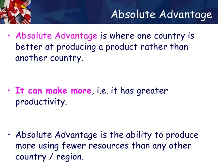 absolute advantage