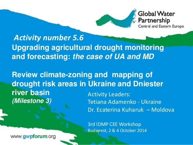 Upgrading agricultural drought monitoring and forecasting: the case of UA and MD Review climate-zoning and mapping of drou...