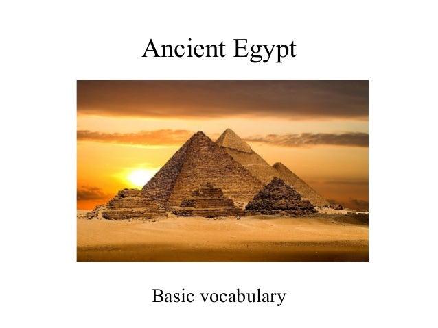 Ancient Egypt Basic vocabulary