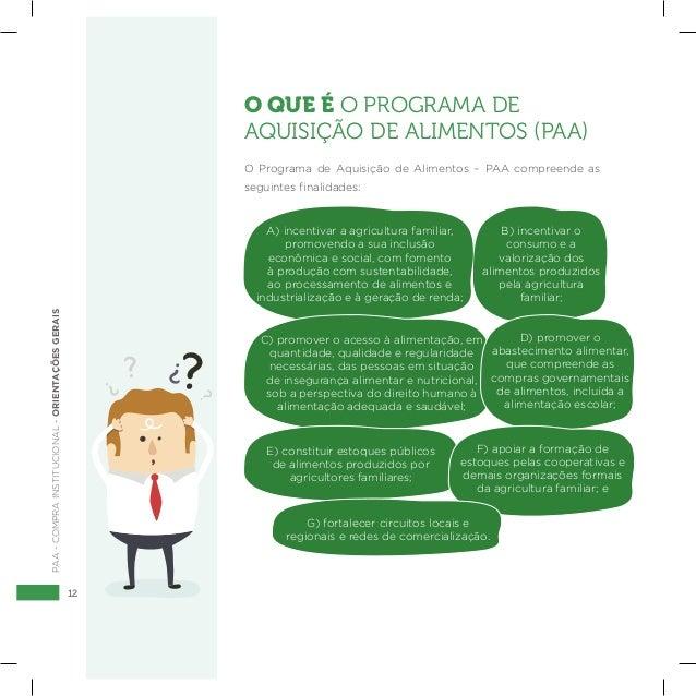 12 PAA-COMPRAINSTITUCIONAL-ORIENTAÇÕESGERAIS O QUE É O PROGRAMA DE AQUISIÇÃO DE ALIMENTOS (PAA) O Programa de Aquisição de...