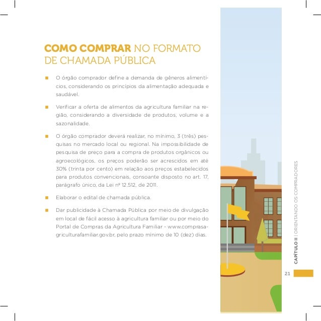 21 CAPÍTULOII|ORIENTANDOOSCOMPRADORES COMO COMPRAR NO FORMATO DE CHAMADA PÚBLICA  O órgão comprador define a demanda de gê...
