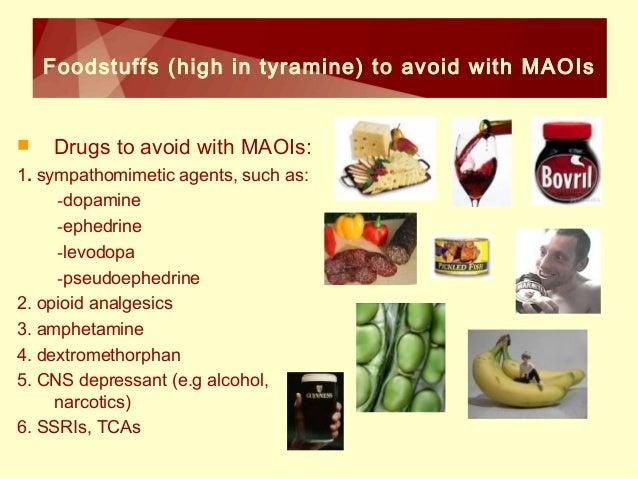 Tyramine Rich Foods List