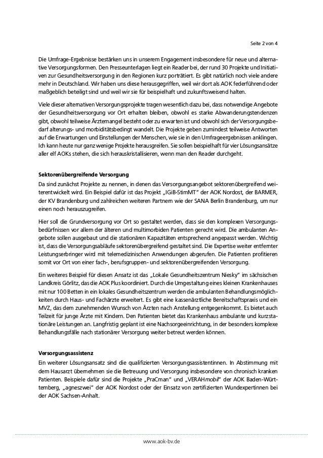"""Pressestatement von Dr. Irmgard Stipper (Vorstandsvorsitzende der AOK Bayern) zur AOK-Initiative """"Stadt. Land. Gesund."""" Slide 2"""