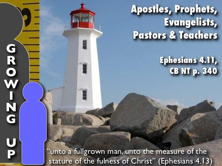 Apostles, Prophets,                                    Evangelists,                             Pastors & TeachersGR      ...