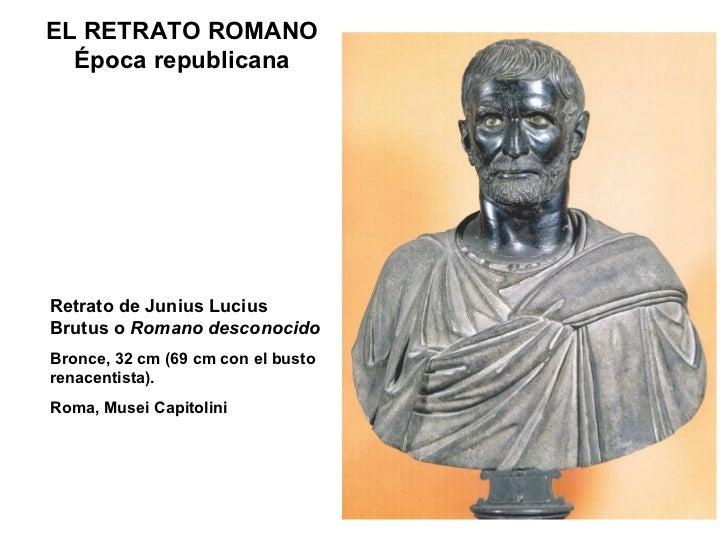 ELRETRATO ROMANO Época republicana Retrato de Junius Lucius Brutus o  Romano desconocido Bronce, 32 cm (69 cm con el bust...