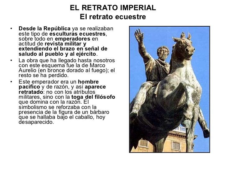 <ul><li>Desde la República  ya se realizaban este tipo de  esculturas ecuestres , sobre todo en  emperadores  en actitud d...
