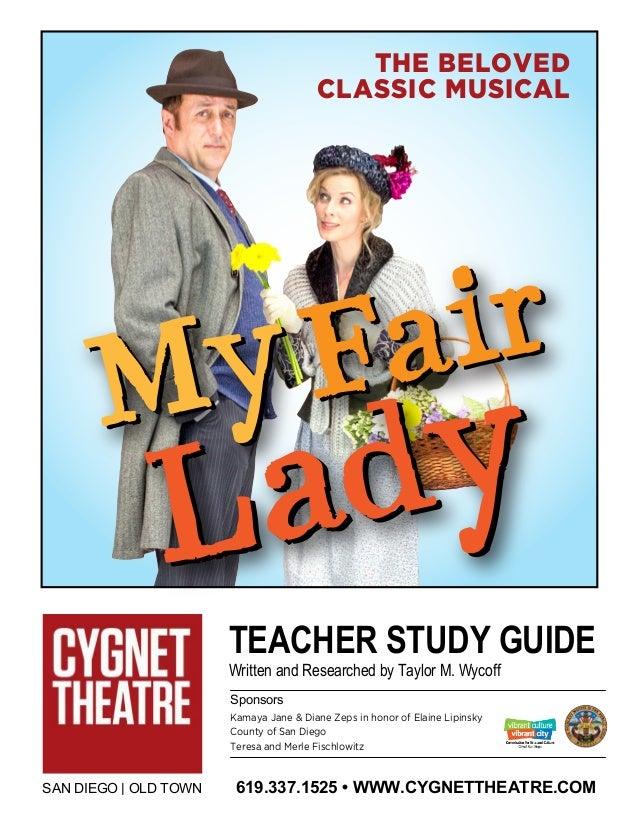 teacher study guide my fair lady rh slideshare net Julie Andrews My Fair Lady my fair lady study guide questions