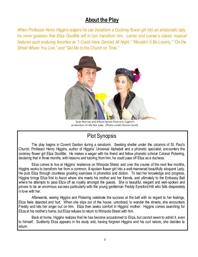 teacher study guide my fair lady rh slideshare net Audrey Hepburn My Fair Lady Eliza Doolittle My Fair Lady