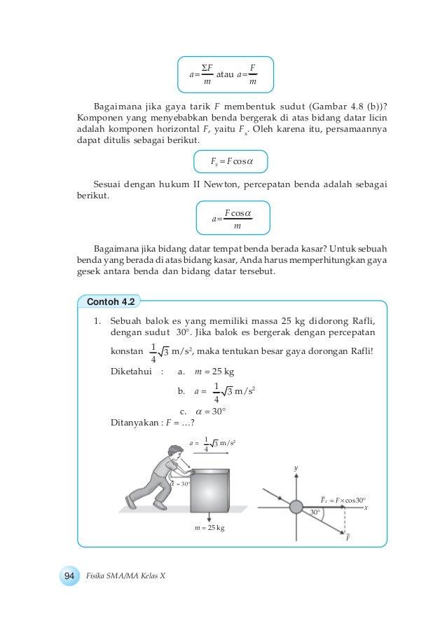 Buku fisika kelas x bab 4 dinamika partikel 93 16 f f a atau a m m ccuart Choice Image
