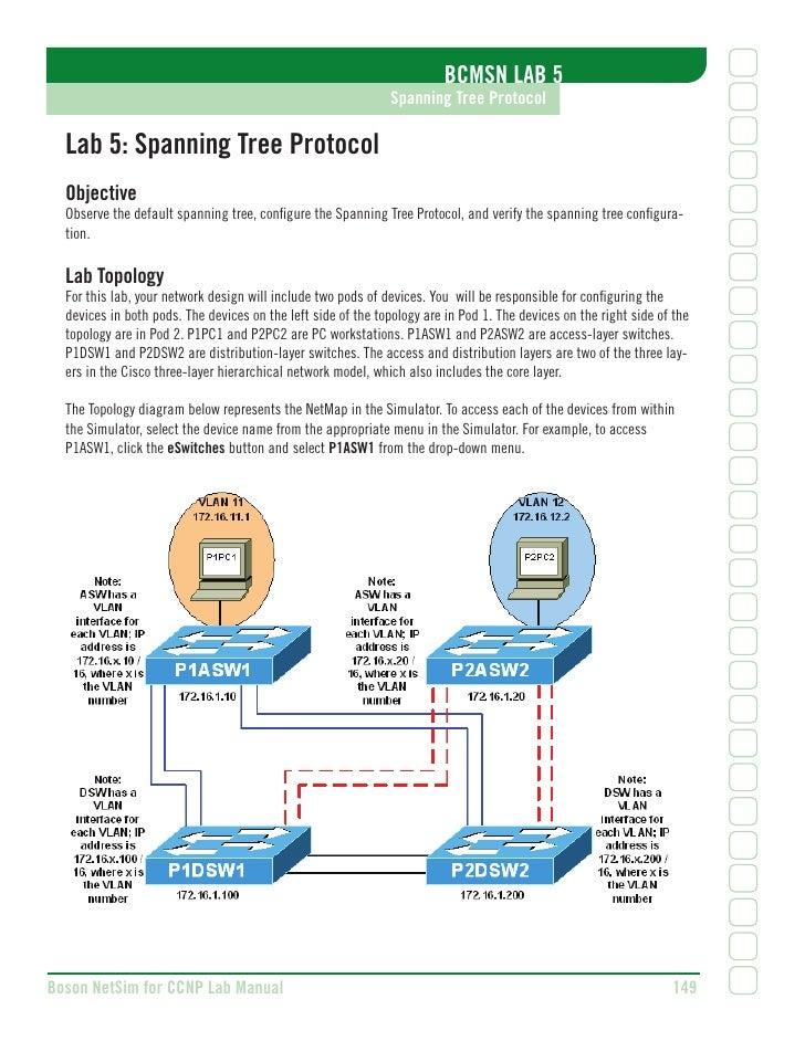 BCMSN LAB 5                                                                Spanning Tree Protocol    Lab 5: Spanning Tree ...