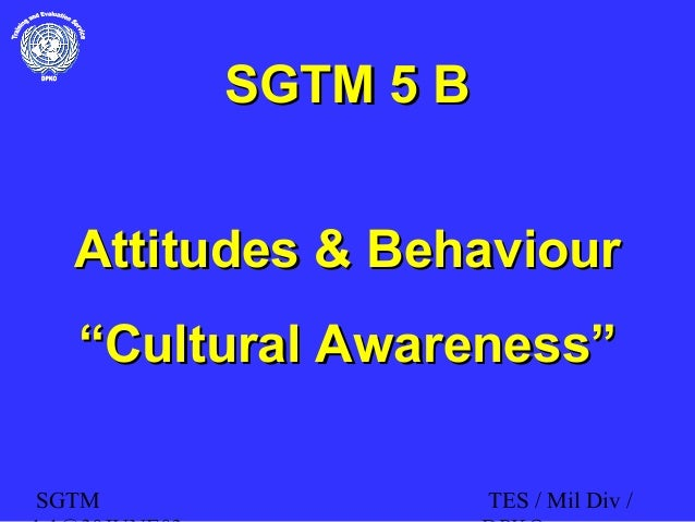 "SGTM TES / Mil Div / SGTM 5 BSGTM 5 B Attitudes & BehaviourAttitudes & Behaviour """"Cultural Awareness""Cultural Awareness"""