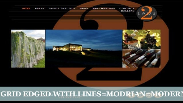 GRID EDGED WITH LINES=MODRIAN=MODERN  Created by Christina Wodtke   www.eleganthack.com   This work is licensed under a Cr...