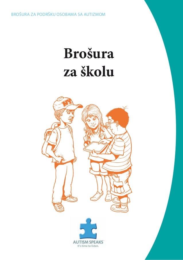 Brošura za školu Brošura za podršku osobama sa autizmom