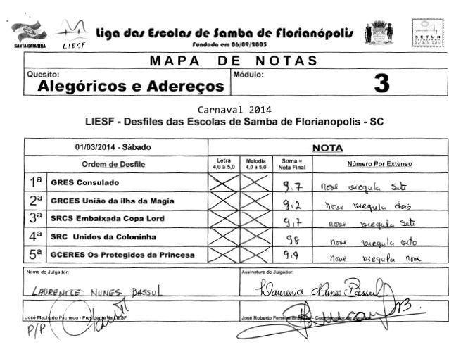 J;'  - 1  L( f  SANTA CATARINA  tr  liga da1 E1cola1 de Samba de r1orian6poli1  <f  SETUR !i'>CCHf: r·Ato:1A  MUN!Cif'~l T...