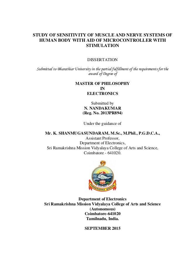 bharathiar university m.phil thesis submission form