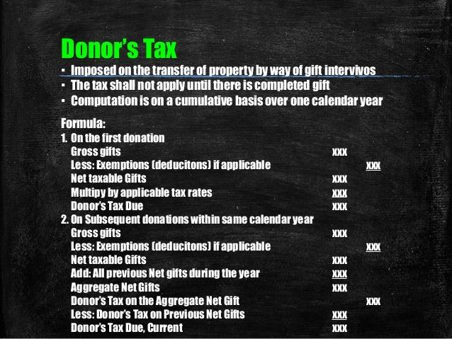 Philippine donors tax return