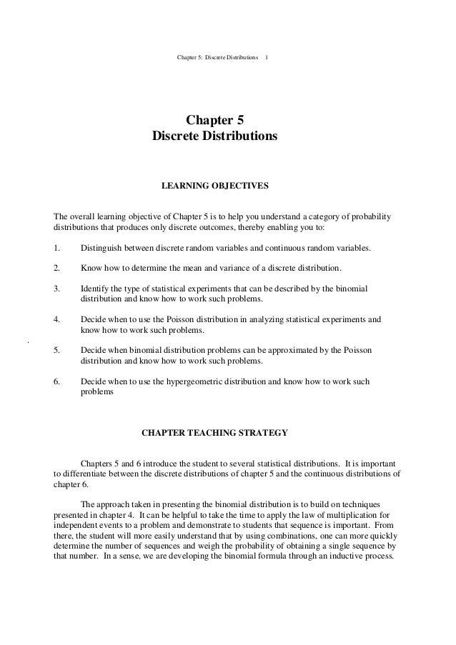 05 ch ken black solution chapter 5 discrete distributions 1 chapter 5 discrete distributions learning objectives the overall learning objective fandeluxe Images