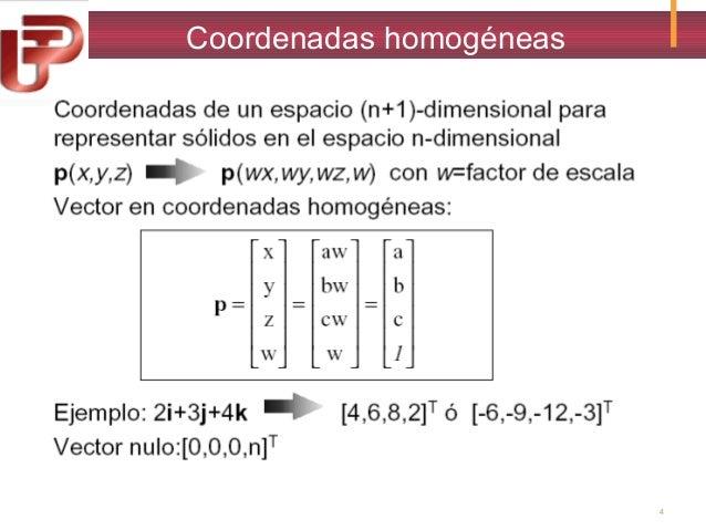 Coordenadas homogéneas  4