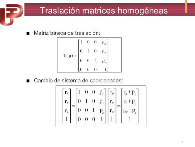 Traslación matrices homogéneas  7