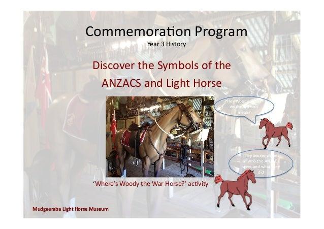Commemora'on  Program   Year  3  History   Mudgeeraba  Light  Horse  Museum   Hey  Woody,  What   ...