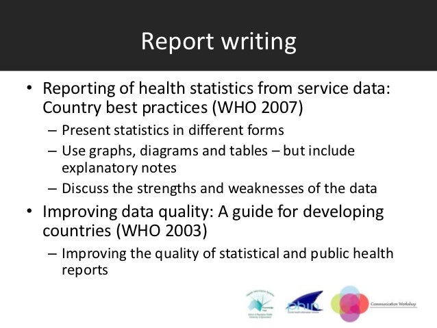Use of oral report writing