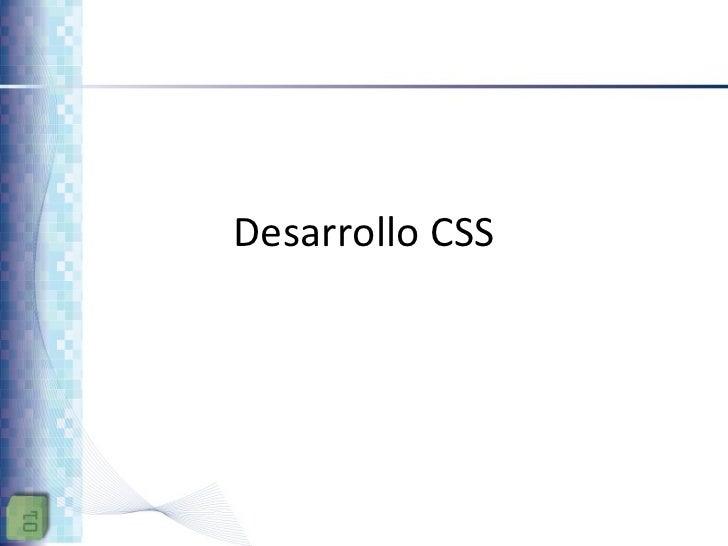 Desarrollo CSS