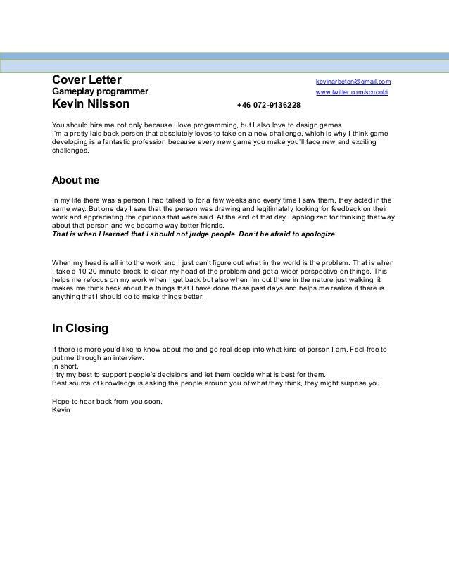 cover letter for programmer