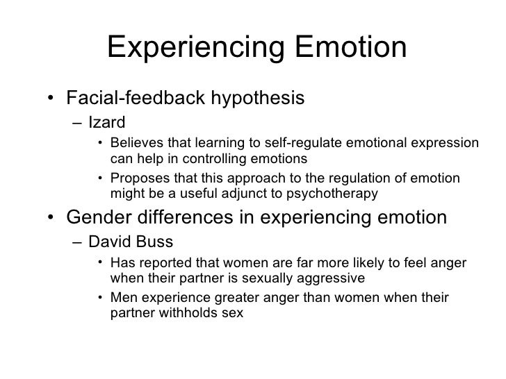 Ekmans facial feed back theory