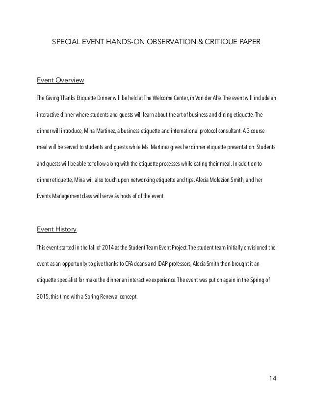 Events Management full portfolio PDF
