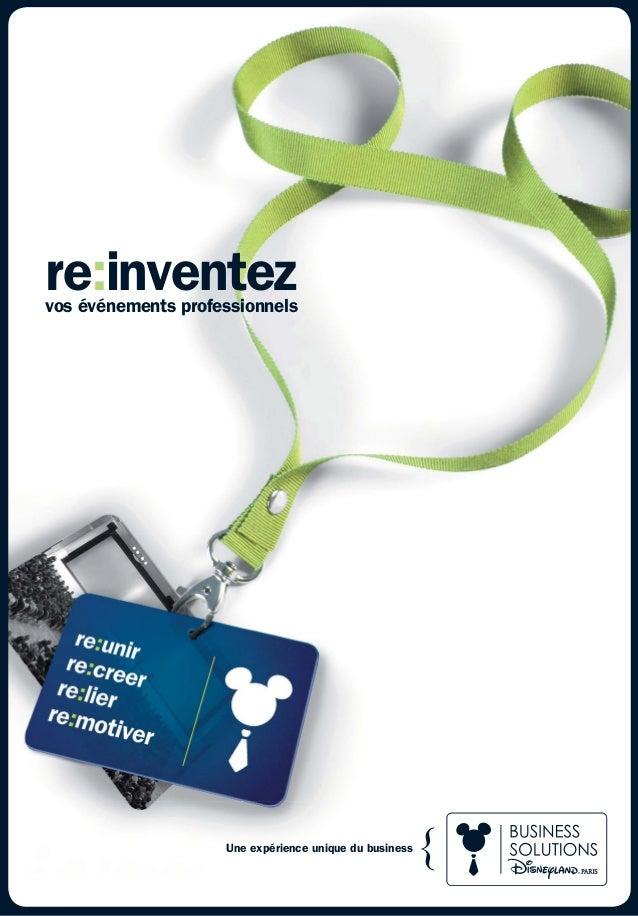re:inventezvos événements professionnels Une expérience unique du business
