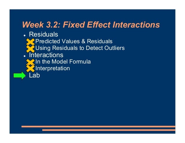 Mixed Effects Models - Fixed Effect Interactions